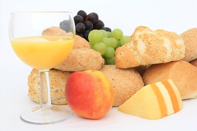 朝食、コンチネンタルブレックファスト