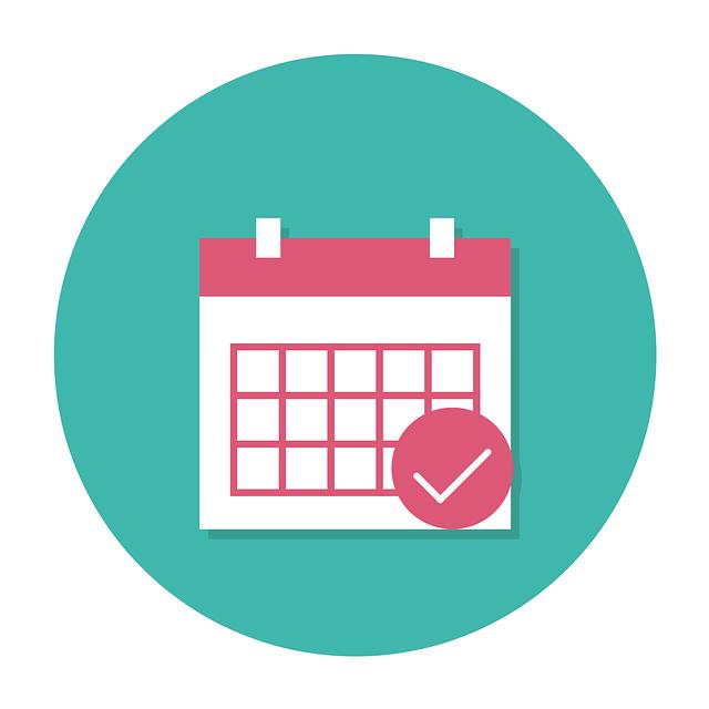 スケジュール、カレンダー、予約