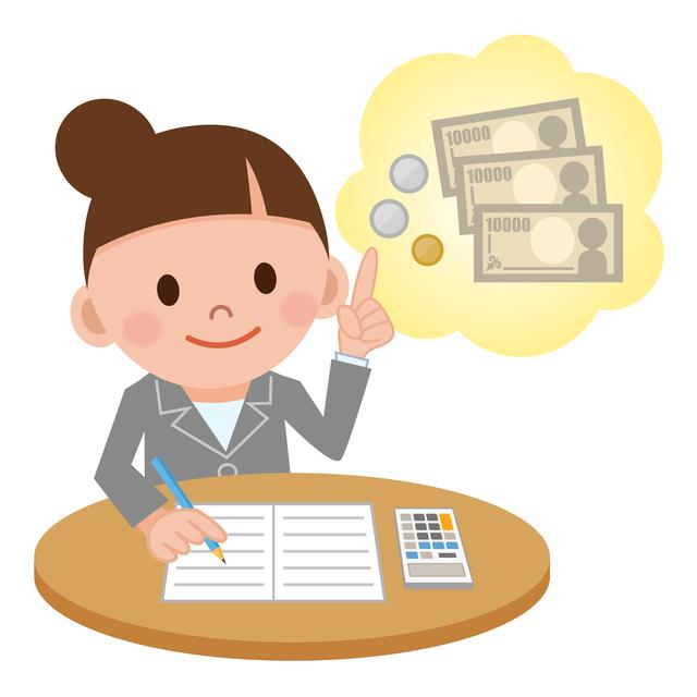 お金、金、ワンポイント、電卓、計算