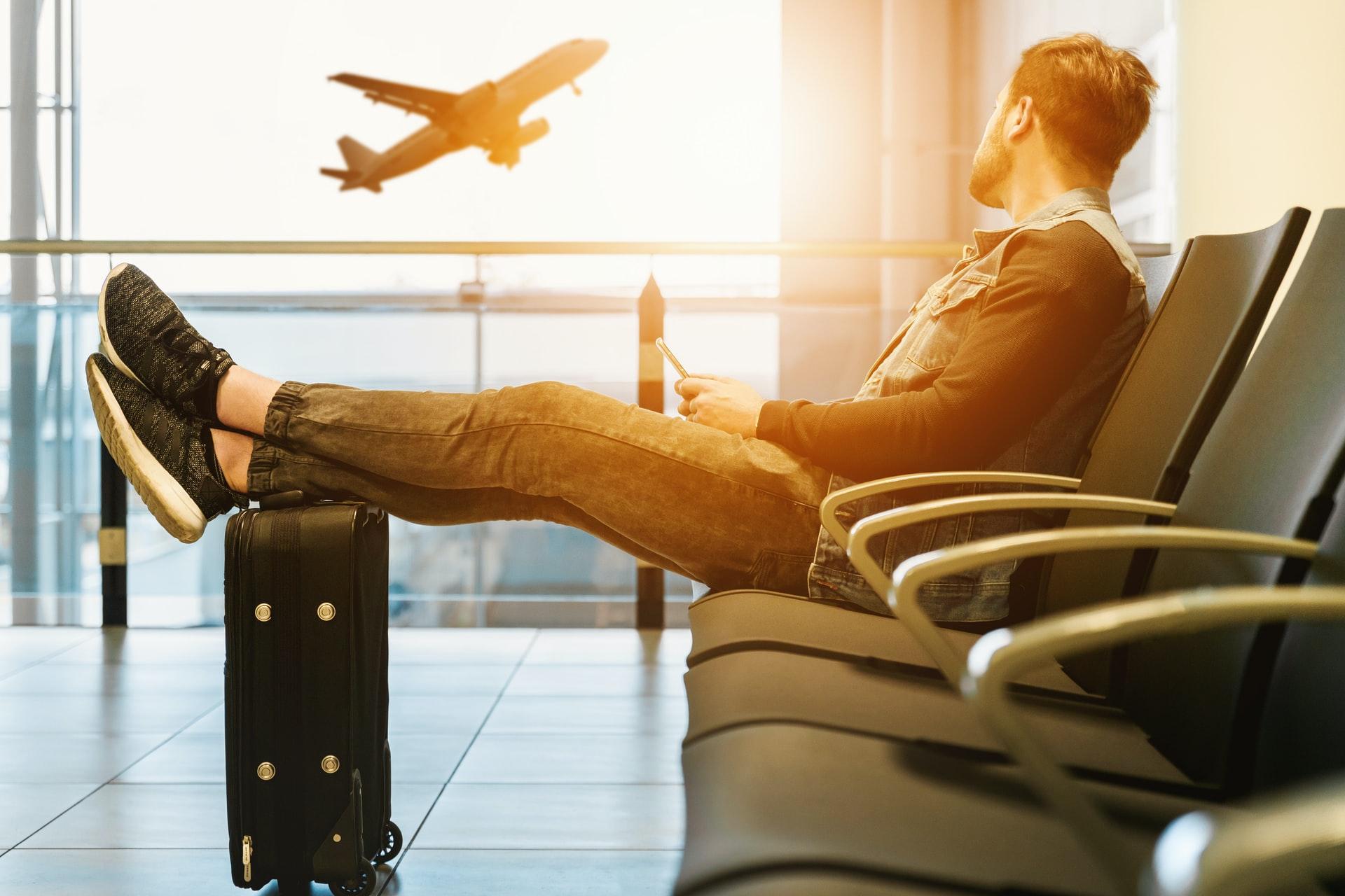 空港、待つ、ウェイティング