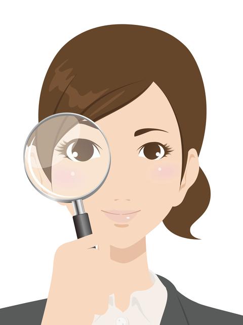 虫眼鏡、考え、見つける、計画