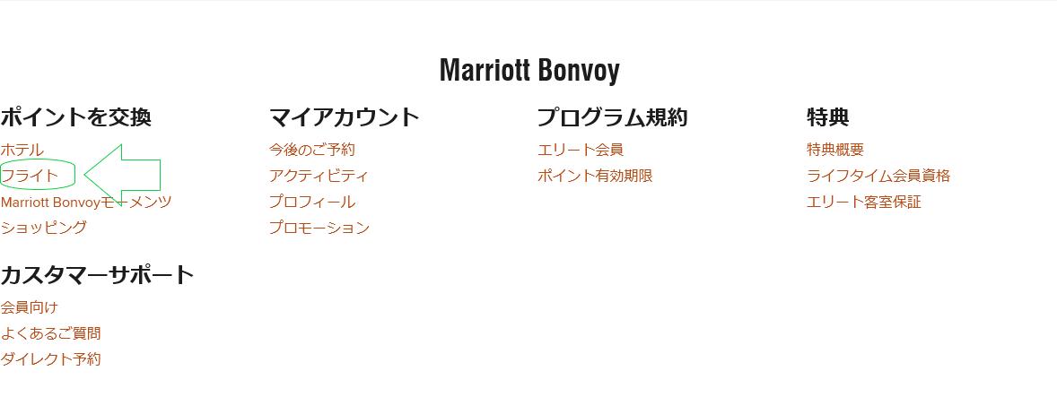 マリオット、マイル